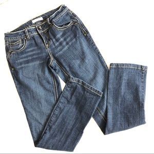 No Boundaries Blue Jeans Embroidered Denim Pants 7